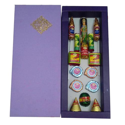 Diwali Crackers Chocolate Gift Box Homemade
