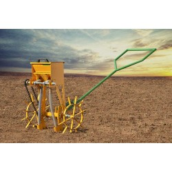 A-I Two Row Seed Cum Fertilizer Drill (Manually Operated)