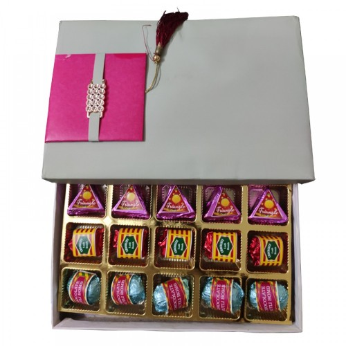 Corporate Diwali Crackers Chocolate Box- Pink