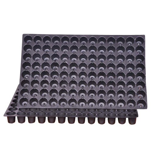 Seedling Tray 126 Holes Or Cells Nursery Pro Seedling Tray ( Pack of 10 )