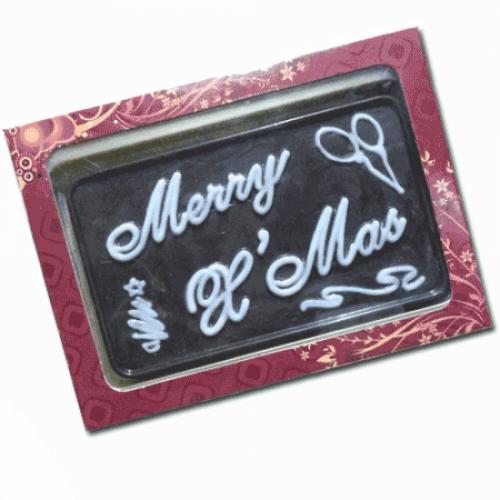 Christmas Greeting Homemade Chocolate