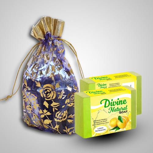 Handmade Divine Natural  Lemon Refreshment soap